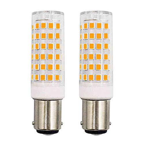 B15d LED Lampe Ersetzt 50W 60W Warmweiß Dimmbar 6W 570Lumen 220V 230V 3000K Schlafzimmer Wandleuchte Wohnzimmer Kronleuchter Nähmaschinenlampe Leuchtmitteln 2er Pack [MEHRWEG]