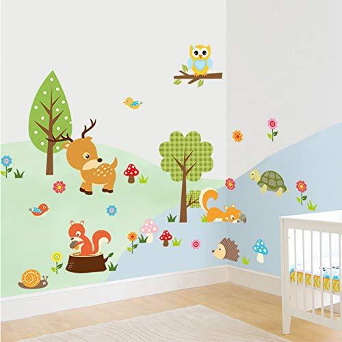 TAOYUE Aventure Stickers Muraux Décoratifs Crazy Jungle Animaux pour Chambre de Bébé Décor Mur Art PVC