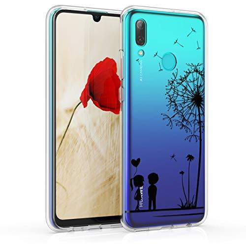 kwmobile Hülle kompatibel mit Huawei P Smart (2019) - Handyhülle - Handy Case Pusteblume Love Schwarz Transparent