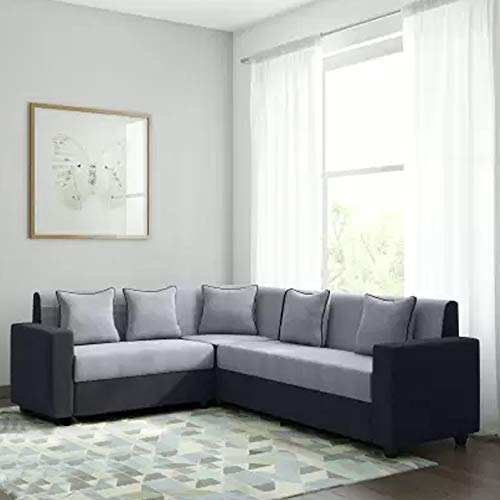 CasaStyle - CasaLiving Six Seater Corner Sofa (Grey-Black)