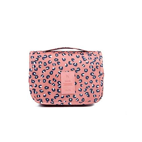 Apanphy® Bolsa de Aseo Neceseres de Viaje Travel Bolso cosmético Bolso de Maquillaje Bolsa de Almacenamiento portátil Estuche de Maquillaje con asa Makeup Toiletry Bag para Mujeres -Leopard Brown