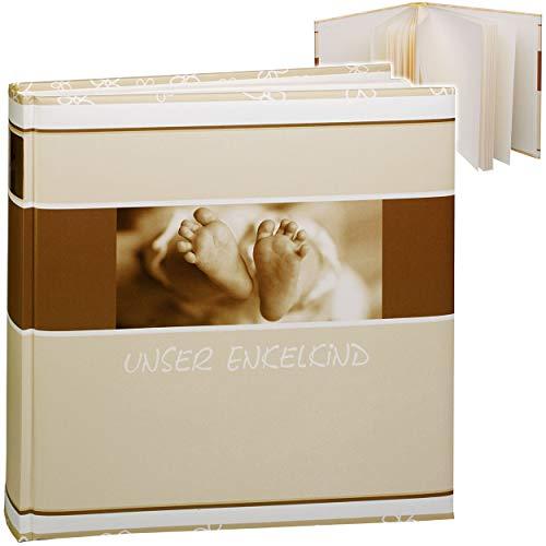 alles-meine.de GmbH Fotoalbum - unser Enkelkind - Baby erste Fotos Babyalbum gebunden zum Einkleben blanko - groß für bis zu 180 Bilder - Fotobuch / Photoalbum / Babyalbum / Albu..