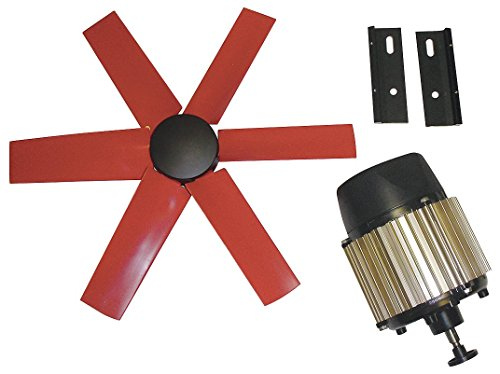 """Multifan 16"""" Corrosion Resistant Exhaust Fan Kit, Number of Blades 6, 3 Phase, Motor RPM 1625-7HX57"""