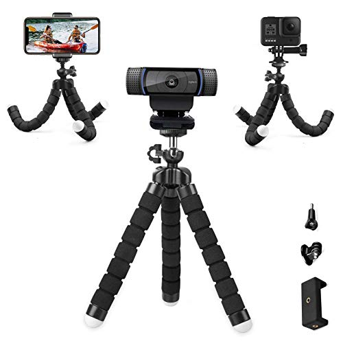 Flexible Desk Webcam Stand Portable Sponge Phone Tripod