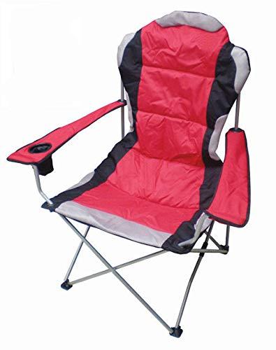 Preisvergleich Produktbild Spetebo Regiestuhl Deluxe bis 150 Kg belastbar - Farbe: rot - Campingstuhl extra breit,  extra bequem,  extra stabil - Angelstuhl Campingstuhl