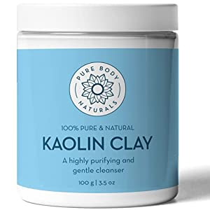 Kaolin Clay Powder, 100 g - Perfect for Natural DIY Skin Cleansers, Masks and Scrubs - by Pure Body Naturals