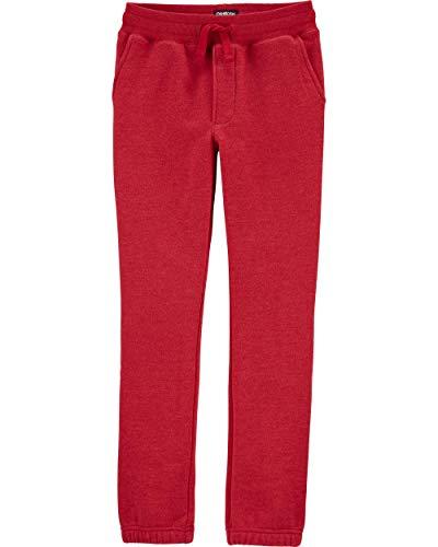 Osh Kosh Boys' Fleece Joggers, Bandana Red, 4T