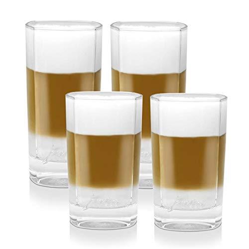 Jura Latte Macchiato Gläser Set für Ihren Latte Kaffee, klein und groß