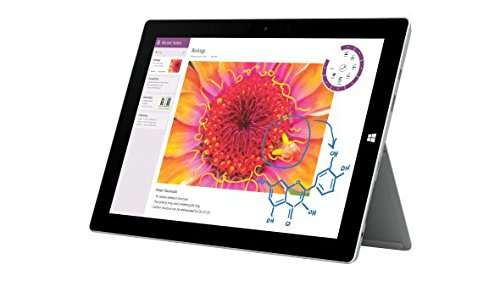 Microsoft Surface 3 128GB Silver Tablet (Full Size Tablet), Windows, Whiteboard, Windows 8.1, Silber