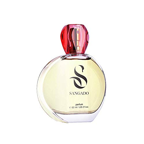 SANGADO Bella Femme Parfüm für Damen, 8-10 Stunden Langanhaltend, Luxuriös Duftendes, Blumiges Fruchtiges Gourmand, Zarte französische Essenszen, Extra-konzentriert (Parfüm), Ideales Geschenk, 60ml