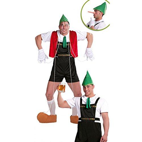 Guirca - Disfraz adulto de tirolés-marioneta (80598)