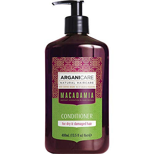 Arganicare Hydrating Macadamia Conditioner for Dry and Damaged Hair with Organic Argan and Macadamia Oil (13.5 Fluid Ounce) by Arganicare
