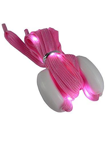 grau.zone leuchtender und blinkender LED-Schnürsenkel Pink S =80cm