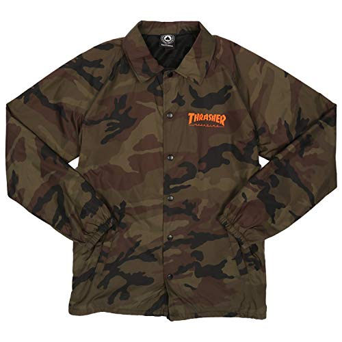 Thrasher Skategoat Coach Chaqueta camo-orange