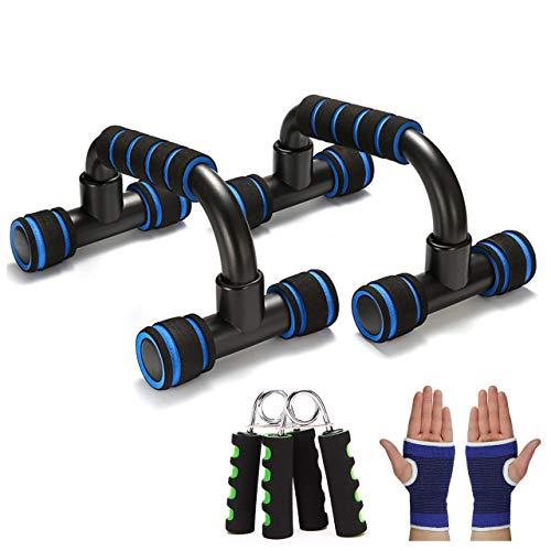 Liegestütze, Liegestützgriffe Inklusive Handtrainer+Handgelenkärmel, Professionelle Push Up Bars mit Antirutschunterfläche für Anfänger und FortgeschritTene für Muskeltraining und Krafttraining
