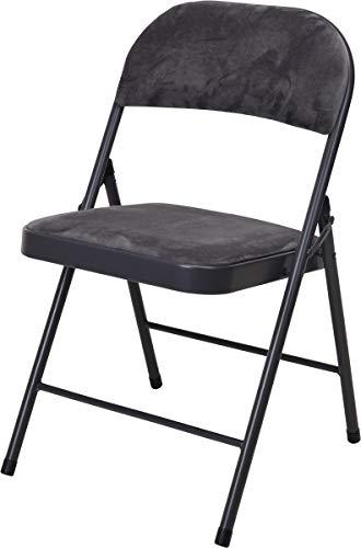made2trade Hochwertige Bequeme Klappstühle aus Metall - Sitzhöhe 45cm - Schwarz