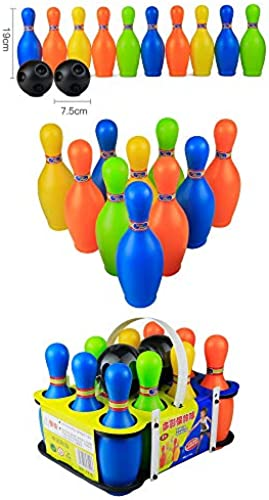 Byx- Spielzeug - Kinder Bowling Set, Indoor und Outdoor Eltern-Kind Sport Baby Toys - 4 -Spielzeug (Farbe   A)
