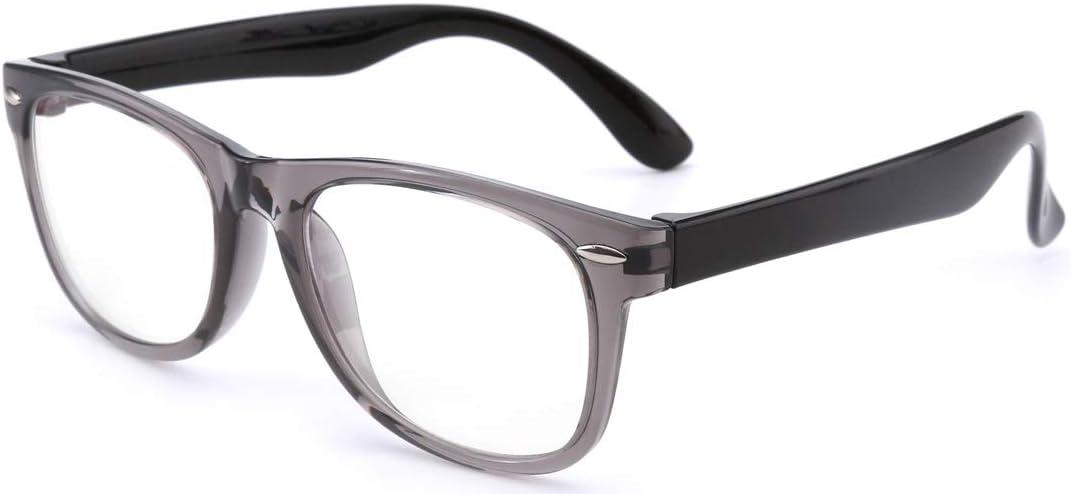 Blue Light Blocking Glasses Kids, Square Computer Gaming TV Phones Glasses for Girls Boys, Anti Eyestrain UV Glare (Clear gray-Black 122mm)