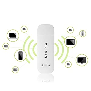 Adaptador de Red USB 4G LTE, Mini Adaptador Inalámbrico USB, USB Wireless WiFi Network Adaptador para PC, Adaptador de Red Inalámbrico WiFi Punto de Acceso Módem (con WiFi)