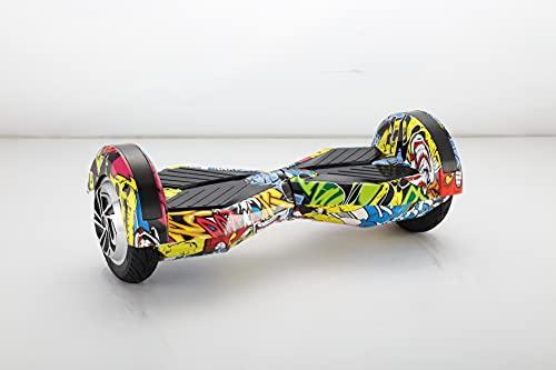 UNITED TRADE Hoverboard Elettrico Monopattino Elettrico Autobilanciato, Balance Scooter Skateboard con LED, Due Ruote 8 Pollici ROSSO con Certificazione UL 2272, Confez. Regalo