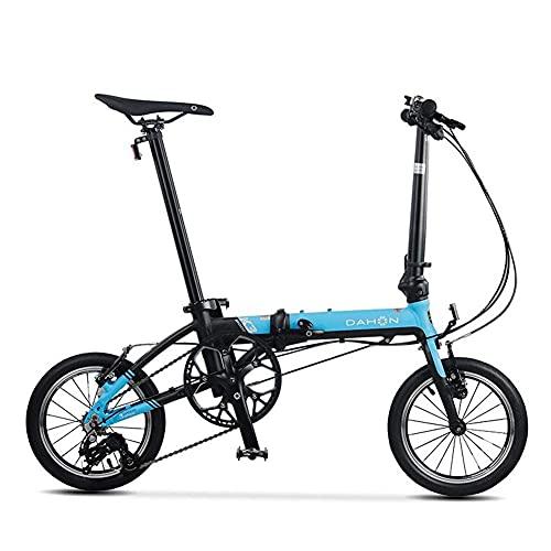 JUUY Deporte Mini 14 Pulgadas Ultra Luz Variable Variable Velocidad Velocidad Plegable Bicicleta Adulto Estudiante Hombres y Mujeres Bicicleta Ciclismo Bicicletas para niños