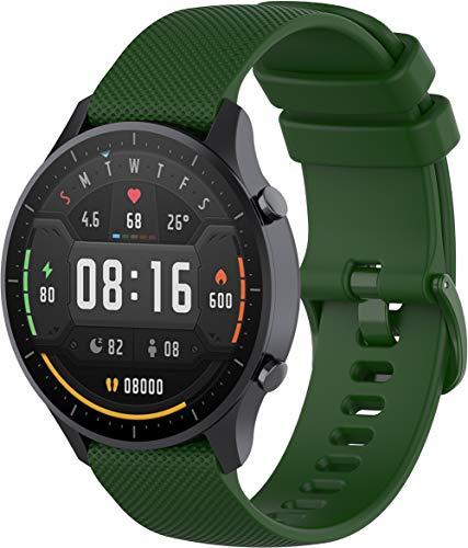 NeatCase Correa de Reloj Compatible con Amazfit Pace/Stratos/GTR 47mm, Impermeable Reemplazo Correas Reloj Silicona Banda (22mm, Ejercito Verde)