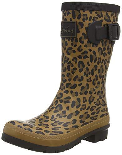 Joules Molly Welly, Botas de Agua Mujer, Marrón (Tan Leopard Tan Leopard), 37 EU