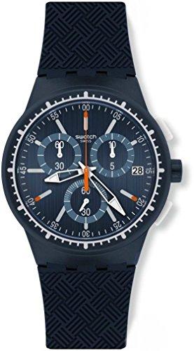 Swatch Reloj Cronógrafo de Cuarzo para Hombre con Correa de Silicona – SUSN410