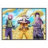JHGJHK Pintura Decorativa de Naruto Naruto Naruto Mural de Dormitorio Mural Inspirador Mural de Anime Decoración de habitación Pintura al óleo 1
