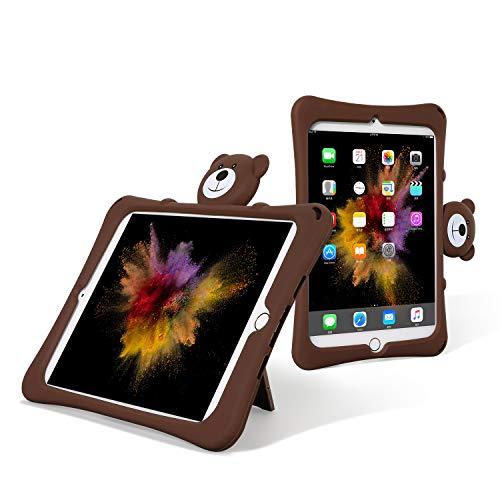SmartDevil Custodia per iPad Mini 5 2019, con Custodia Mini 4, Simpatico Orso Kung Fu per Adulti E Bambini Universale-Marrone