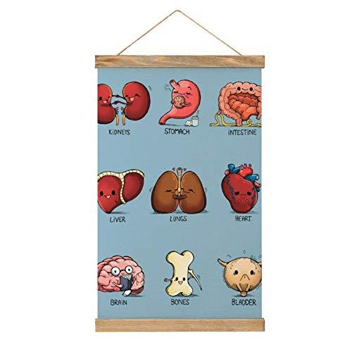 Lienzo de alta calidad para colgar un cuadro, órganos, póster mural, fácil de instalar, 33.1 x 50.4 cm.