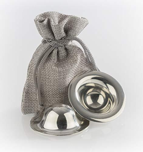 Stillhütchen - Zinnhütchen Brustwarzenschutz bei empfindlichen Brustwarzen aus nachhaltigem 99,9%-igem Reinzinn - Stilleinlagen aus Zinn - 1 Paar