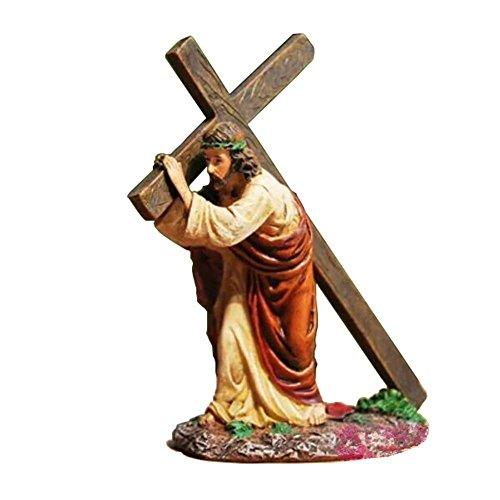 MyLifeUNIT figura de Jesús llevando la cruz cristiana religiosa, 12cm.