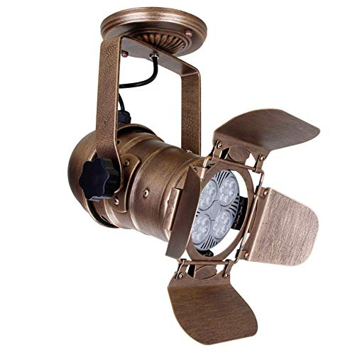 DLILI Vine Foco Techo E27 Foco Punto Industrial Luz Pared/Techo Luz Colgante Metal Ajustable
