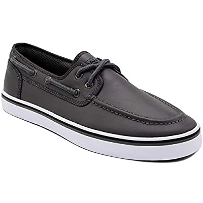 Nautica Men's Spinnaker Lace-Up Boat Shoe, Casual Loafer, Fashion Sneaker-Grey Smooth 1-8