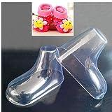 20 PC/porción de plástico del pie Modelo calcetín Moldes Pega bebé Zapatos...