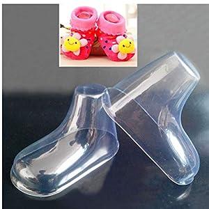 20 PC/porción de plástico del pie Modelo calcetín Moldes Pega bebé Zapatos Botines la Pasta de azúcar del Molde de extrusión de visualización de Embalaje de Regalo