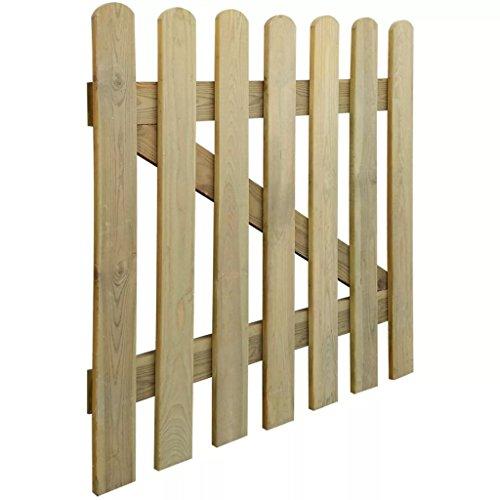 UnfadeMemory Gartentor Holz Zauntor Gartenpforte Holztor aus Imprägniertes Kiefernholz Verrottungsbeständig für Lattenzaun Gartenzaun 60/80/100/120/150cm Optional (100 x 100 cm)