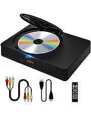 DVDプレイヤー HDMI / AV 端子搭載 ミニDVD / CD プレーヤー 1080Pサポート リージョンフリー DVDプレーヤー CPRM 地上デジタル放送/USB2.0コピー /記憶再生 /レコードエラー修正 防振機能付き DVD-プレイヤー(ブラック)