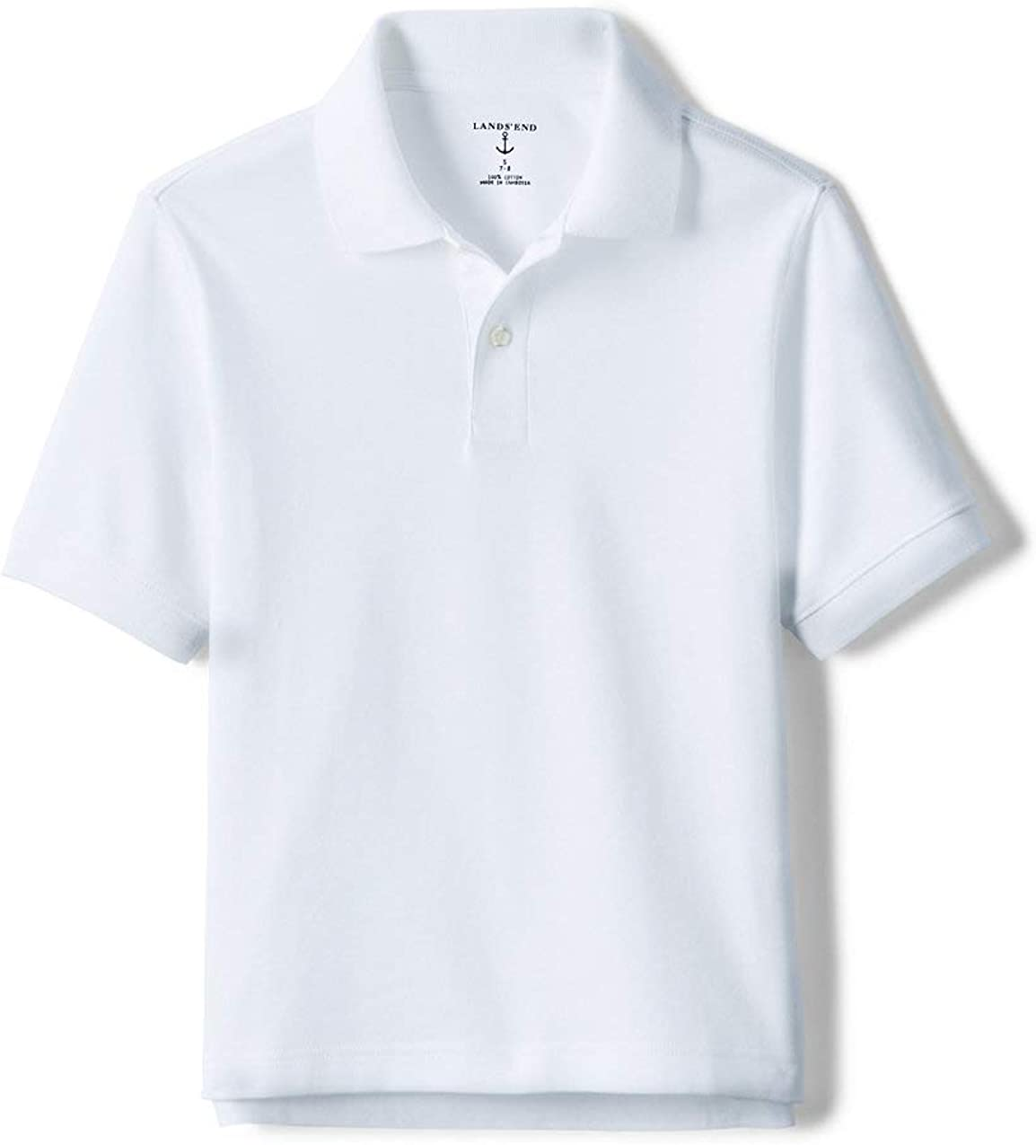 Lands' End School Uniform Kids Interlock Choice Shirt Sleeve Polo Short Al sold out.