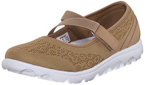 Propet Women's TravelActiv Mary Jane Fashion Sneaker, Honey, 10 W US
