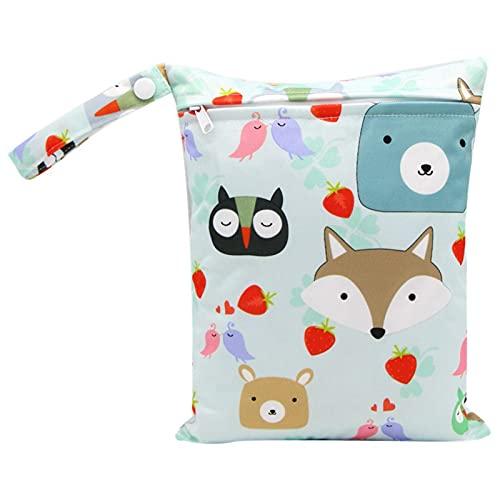 Bolsa de armazenamento de fraldas para bebês, bolsa seca molhada para fraldas de tecido, impermeável, lavável, bolsa portátil