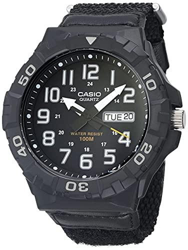 Casio Men's Quartz Nylon Strap, Black, 28.4 Casual Watch (Model: MRW-210HB-1BVCF)