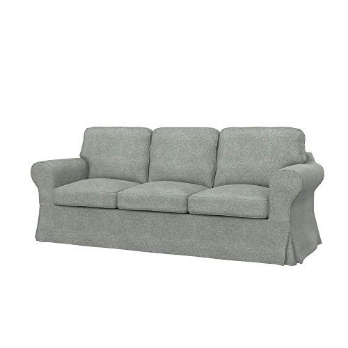 Soferia Funda de Repuesto para IKEA EKTORP PIXBO sofá Cama de 3 plazas, Tela Strong Light Grey, Gris