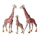 FLORMON 3 Piezas Figuras de Animales Realista Jirafa Modelo de acción El plastico Animal Salvaje Juguetes de Fiesta favores Juguetes educativos de la Granja Forestal Regal