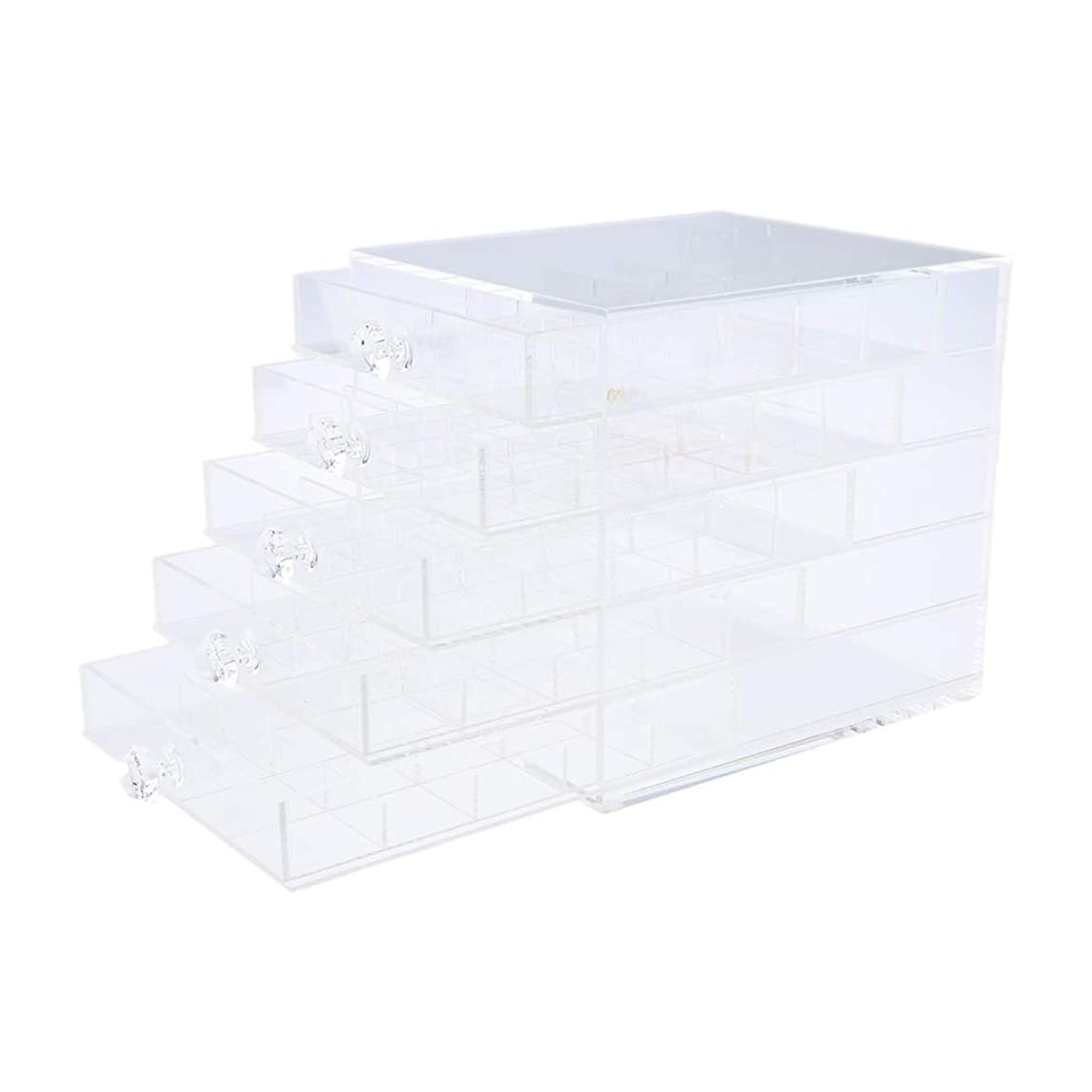 小さいおもしろいプレゼントSM SunniMix ネイル収納ボックス 化粧品収納 ネイルアート 引き出し ジュエリーコンテナ アクリル 耐久性