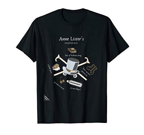 Lister Lesbian Starter Kit Inspiring Strong Feminist Gift T-Shirt