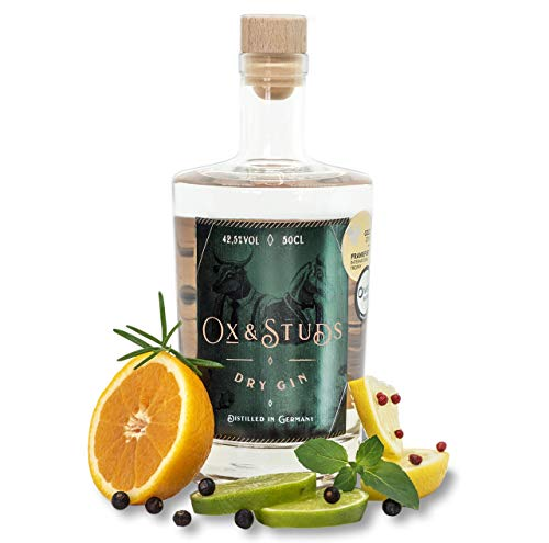 günstig Ox & Studs® Dry Gin – Trockener Gin [1 x 0,5 L] – Schwarzwälder Luxushandwerker Jin -… Vergleich im Deutschland