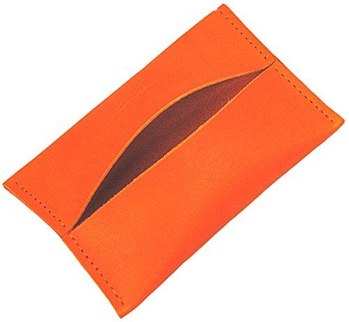 [ゼニス] 本革 日本製 レザー ティッシュケース ポケットティシュカバー オレンジ(ライトオレンジ) B-0148 OR