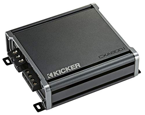 Kicker 46CXA8001 Car Audio Class D Amp Mono 1600W Peak Sub Amplifier CXA800.1 (Renewed)